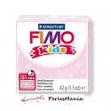 1 PAIN PATE FIMO KIDS ROSE PALE A PAILLETTE 42gr REF 8030-206