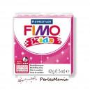 1 PAIN PATE FIMO KIDS FUSHIA A PAILLETTE 42gr  REF 8030-262