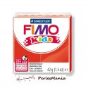 1 PAIN PATE FIMO KIDS ROUGE 42gr REF 8030-2 MODELAGE