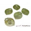 10 pendentifs breloque retro vintage bouquet de fleur 2W1409 BRONZE
