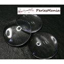 10 pieces cabochons en verre forme RONDE 35mm