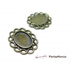 2 pendentifs Ovale ENTRELACS  ref 34  Bronze