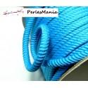 4 mètres de CORDON CORDE TRESSEE 5mm Bleu ref H705
