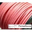 10m de cordon en suédine aspect daim Suédine rose bonbon PG0151 qualité