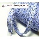 50 cm ruban biais dentelle Fleur Violet clair 12mm ref 71676 couleur 2809