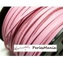 10m de cordon en suédine aspect cuir Rose PG01514 qualité