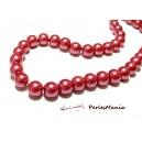 1 fil d'environ 85 perles de verre nacré ROSE BONBON 10mm PB17