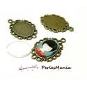 20 pièces: 10 pendentif ARTY Camé Ovale 13 par 18mm ref 119 Bronze et 10 cab