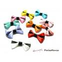 Lot de 20  noeuds à rayures multicolores H52M pour création de bijoux