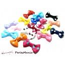 Lot de 20  noeuds à pois multicolores H48M pour création de bijoux