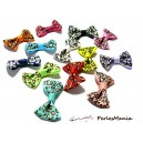 Lot de 20  noeuds Guepard  GM multicolores H57M  pour création de bijoux