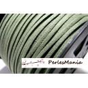 10m de cordon en suédine aspect daim  Suédine Kaki Foncé PG0114 qualité