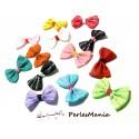 Lot de 20   NOEUDS Phrases multicolores H50M11  pour création de bijoux