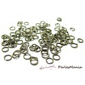 200 anneaux de jonction 5mm par 0.9 mm bronze