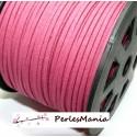 10m de cordon en suédine aspect daim GRENAT PG0145 qualité