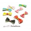 Lot de 20 NOEUDS A POIS multicolores H05411 GROS GRAINS pour création de bijoux