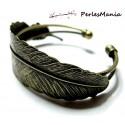 1 bracelet modèle Plume BRONZE ID22147