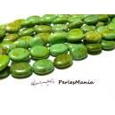 10 perles Ovales Imitation Turquoise VERTE 20 par 14mm