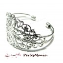 """1 support bracelet """"filigrane"""" ARGENT PLATINE """""""