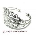 1 support bracelet 'filigrane' ARGENT PLATINE '