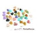 100 mini fleur acrylique multicolores P8037