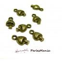 60 BRELOQUES PENDENTIFS Petits champignons 2Y1115 Bronze 13x8mm