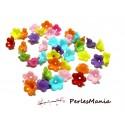50 mini fleur acrylique multicolores P99M54