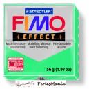 1 pain  56g pate polymère FIMO EFFECT VERT TRANSPARENTS 8020-504
