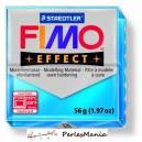 1 pain  56g pate polymère FIMO EFFECT BLEU TRANSPARENT 8020-374