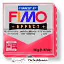 1 pain  56g pate polymère FIMO EFFECT ROUGE TRANSLUCIDE 8020-204