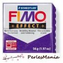 1 pain  56g pate polymère FIMO EFFECT LILAS PAILLETE 8020-602