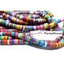 1 fil environ 150 perles RONDELLES TURQUOISE RECONSTITUEES 8mm ref 109