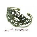 "4 support bracelet ""filigrane"" BRONZE"