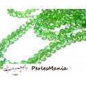 1 fil d'environ 100 perles à facettes rondelles en verre 4 par 6mm VERT IRISE 2J1306
