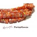 10 perles CUBES Millefiori 8mm ORANGE