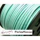 10m de cordon en suédine aspect daim  vert Pistache PG156 qualité