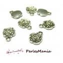 30 pendentifs fleurs Ma rose 10mm ref85 VIEIL ARGENT breloques DIY