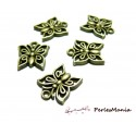 50 pendentifs breloques papillons ajourés ref222 Bronze