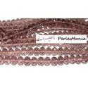 10 perles à facettes rondelles en verre 8x10mm Amethyste 2J1133 DIY