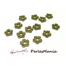 20 perles intercalaire style fleur 10mm 2Y6840 BRONZE, DIY