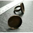 4 pieces bronze Big Round ring