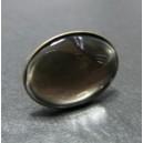 2 pièces:1 bague ovale bronze  horizontale et 1 cabochon 18 par 25