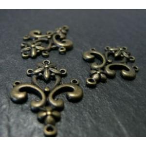 6 pieces bronze magnifique connecteur vintage