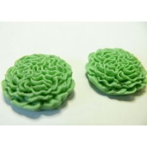 1 piece Cabochon fleur resine chiffon vert