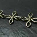 20 cm Bronze chaine fleur  ref 204
