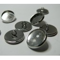 20 pièces: 10 Supports de boutons à coudre 10mm pp et 10 cabochons
