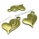 10 pendentifs coeur et tourbillon BR ref 2D3205
