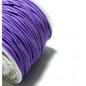 Apprêt mercerie 10 mètres élastique fil tressé 1,5mm violet