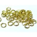200 anneaux de jonction 6 mm par 1 mm doré