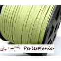 2m de cordon en suédine aspect daim VERT PG124 qualité